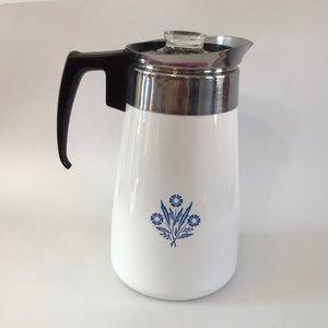 Vintage Corning Ware Percolator Coffee Maker 9Cups